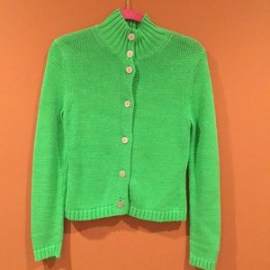 Lilly Pulitzer classic green cotton sweater small